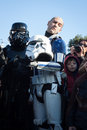 People of st legion take part in the star wars parade in milan italy january official costuming organization wearing perfectly Royalty Free Stock Photo