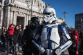 People of st legion take part in the star wars parade in milan italy january official costuming organization wearing perfectly Stock Photography