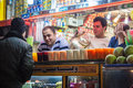 People in a stall with fresh juices tehran february on february tehran iran tehran is iranian capital population of Stock Images