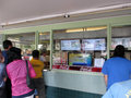 People stand in line at rainbow drive in september honolulu world famous waiting to order honolulu hawaii september Royalty Free Stock Photo