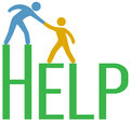 People step up find support help answer customer gets hand to to problem from service or consultant Stock Image