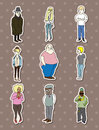 People stickers Stock Photos