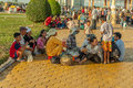 People on the street of asian country vietnam and cambodia making in may Royalty Free Stock Images