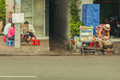 People on the street of asian country vietnam and cambodia making in may Royalty Free Stock Photo