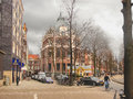 People on the streets in amsterdam netherlands february Stock Images