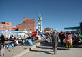 People at Sunday market in El Alto, La Paz, Bolivia Royalty Free Stock Photo