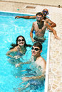 People in swimming pool Royalty Free Stock Photos