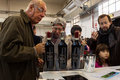 People tasting wines at golosaria in milan italy november taste important event dedicated to culture and tradition of quality food Royalty Free Stock Photo