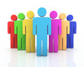 People teamwork concept d render colorful close up Royalty Free Stock Image