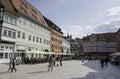 People on terrace i n Quedlinburg