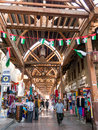 People in textile souk in Bur Dubai Stock Images