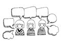 People think and dialog speech bubbles an images of design Royalty Free Stock Images