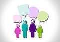People think and dialog speech bubbles an images of design Stock Photos