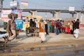 People traffic during the Kumbh Mela festival Royalty Free Stock Photo