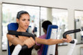 People training and working out in fitness club Stock Photography