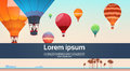 People Travel On Colorful Air Balloons Flying In Sky On Beach Banner