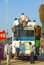 People travel by overland bus at jodhpur india october in jodhpur on october unsatisfactory quantity quality of public Stock Photos