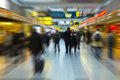 People travel walking to the gate of the airport transfer radial blur Stock Photography