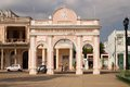 People under arches in cuba february cienfuegos arched entrance way to the main central touristic park the city of cienfuegos on Stock Photo