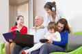 People uses few various electronic devices famaly or group of Royalty Free Stock Image