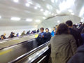 People Using Escalator