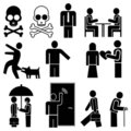 People - vector icons Royalty Free Stock Image