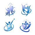People vector set illustration concept of activity logo Royalty Free Stock Photos