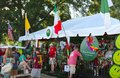 People visit a booth at the memphis italian festival he is weekend long event held annually in tennessee on first weekend in june Stock Photography