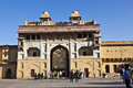 People visit the famous Amer Fort Royalty Free Stock Photography