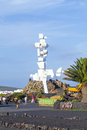 People visit memorial el campesino lanzarote spain january on january in lanzarote spain was formend by caesar Royalty Free Stock Photos