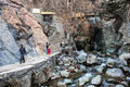 People visit mountains in darband quarter tehran february on february tehran iran tehran is iranian capital with a population Royalty Free Stock Photos
