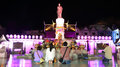 People visit Suranaree statue to worship Royalty Free Stock Photography