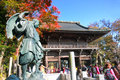 People visited The ancient temple at Mt.Takao in Kanto area Royalty Free Stock Photo