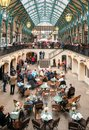 People visiting Covent Garden Apple Market, is the big attraction for its restaurants, pubs, market stalls and shop in London. Royalty Free Stock Photo