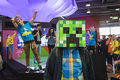 People visiting Games Week 2014 in Milan, Italy Royalty Free Stock Photo