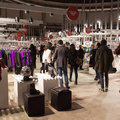 People visiting Mipap trade show in Milan, Italy Royalty Free Stock Photo