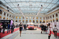 People and volvo cars in gostiny dvor moscow apr on day of opening of th season fashion week april moscow russia this event Stock Photo