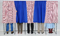 People in Voting Booths Royalty Free Stock Photo