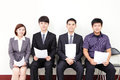 People waiting for job interview asian Royalty Free Stock Image