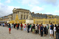People waiting to enter the Palace of Versailles Stock Image