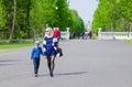 People walk in the park Kadriorg, Tallinn, Estonia