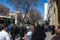 People walk on a street tabriz iran march march in tabriz iran the estimated population of the city is around Royalty Free Stock Photo