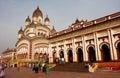 People walking around famous Kali Temple Royalty Free Stock Photo