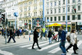 People walking through the central street of austrian capital many in vienna austria population vienna is about million more Royalty Free Stock Image
