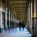 People walking corridor motion blur toned image Royalty Free Stock Images