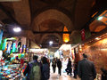 People are walking in grand bazaar in istanbul turkey Royalty Free Stock Photo