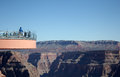 People walking grand canyon skywalk over colorado river Royalty Free Stock Photography