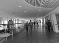 People walking on lobby at the Tan Son Nhat airport in Saigon, Vietnam Royalty Free Stock Photo