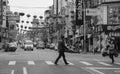 People walking on street in Hualien, Taiwan Royalty Free Stock Photo