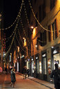 People walking on the streets of Florence decorated before Christmas Stock Photography